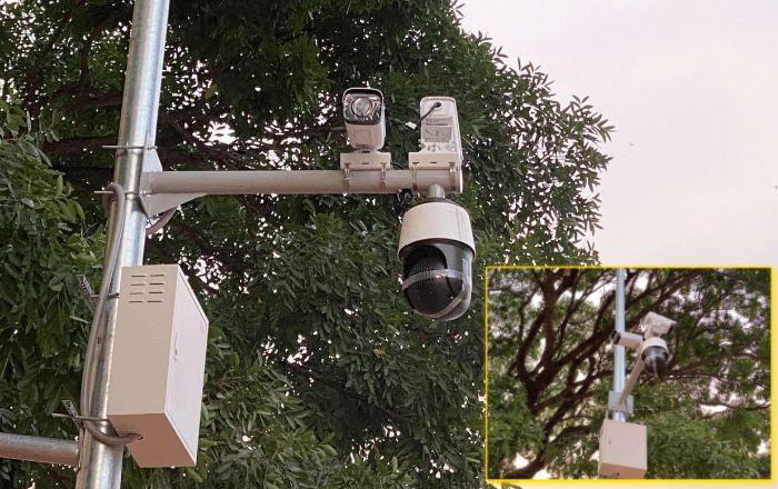 西港街头安装了高清摄像头